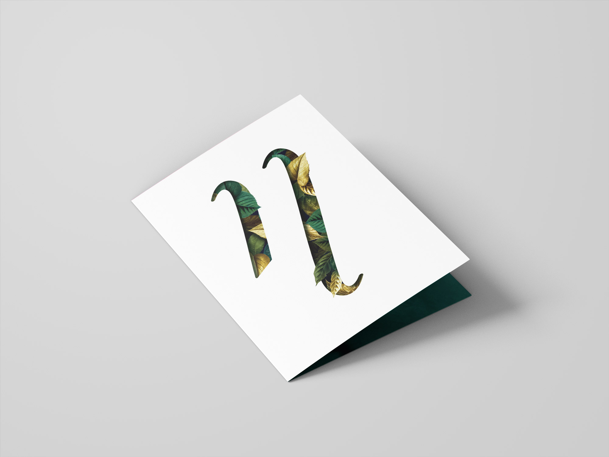 Projekt kartki z podziękowaniami dla stałych Klientów Noble Lashes.
